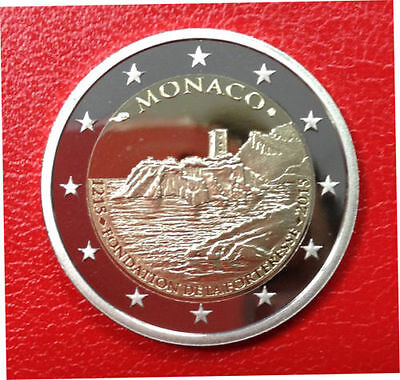 MONACO 2 euro 2015 800 YEARS of the MONACO FORTRESS, PROOF, mintage only 10 000.