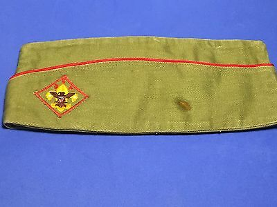 Vintage Boy Scouts Of America BSA Garrison Cap Hat Green sz Medium 6 3/4- 6 7/8