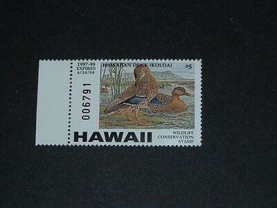CKStamps: US State Duck Stamps Collection $5 Hawaii 1997 Mint NH OG