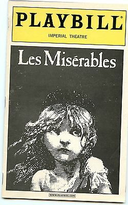 Les Miserables 2000 Playbill Imperial Theatre