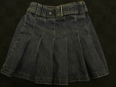 Girl's / Girls Blue Denim Knee Length Skirt - 5 years