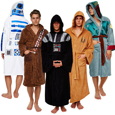 Star Wars Luxus Herren Bademantel Darth Vader Jedi R2D2 Chewbacca Boba Fett neu
