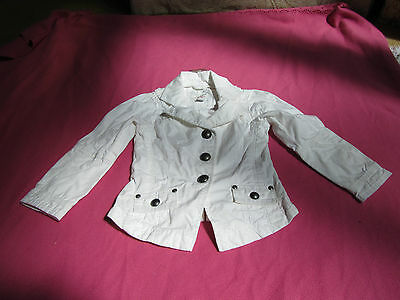 Smart White Cotton Next Jacket - 3 - 4 years - NWT but creased