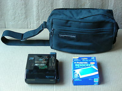 Polaroid Spectra System Onyx Instant Camera With Carrying Case And Film