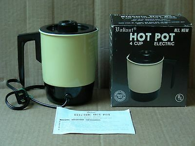 Valiant Almond 4-Cup Electric Hot Pot With Box & Instructions