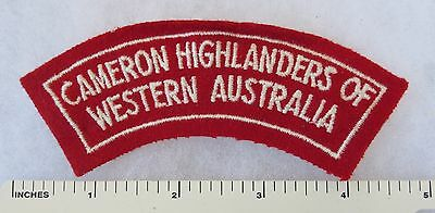 CAMERON HIGHLANDERS OF WESTERN AUSTRALIA - Post WW2 ARMY SHOULDER FLASH PATCH