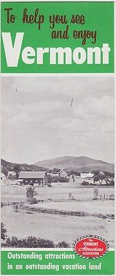 1950's  Vermont Attractions Promotional  Brochure