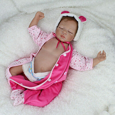 "22"" Handmade Reborn Baby Dolls Newborn Boy Lifelike Soft Vinyl Body Dolls Toy"