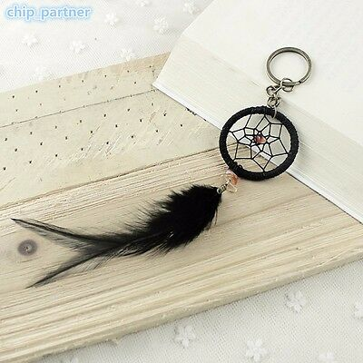 Black Feather Dream Catcher Key Chain Car Hanging Decoration Birthday Gift