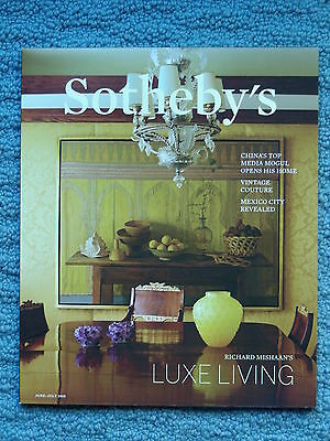 """Sotheby's Magazine """"luxe Living"""" June - July 2015"""