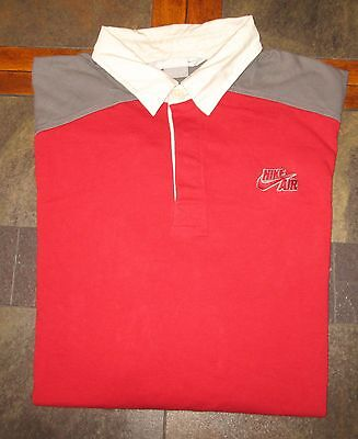 Men's Nike Air Long Sleeve Rugby Shirt Size Large LG L