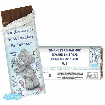 Me To You Personalised Teacher Chocolate Bar