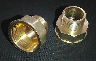 "BRASS BRONZE REDUCER ADAPTER 1"" FEMALE  x 3/4"" MALE NPT PIPE"