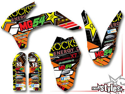 KTM SXF EXC SMR 85 125 250 300 350 450 500 AMA Supermoto DEKOR Decals KIT MG54
