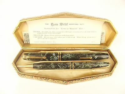 VINTAGE CONWAY STEWART 24 FOUNTAIN PEN AND PROPELLING PENCIL SET 1950s