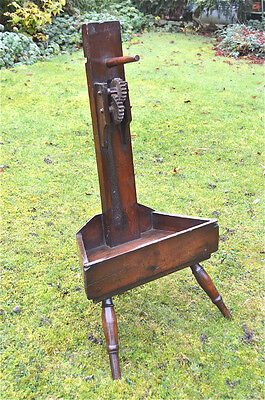 Interesting antique 18th century Welsh 3 leg yarn winder primitive folk art