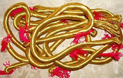 BEAUTIFUL UNUSED SKEIN VINTAGE FRENCH RICH GOLD METAL THREAD c1930-50
