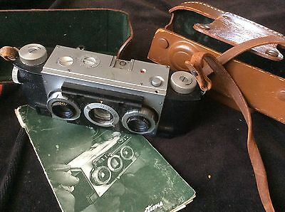 VINTAGE REALIST DAVID WHITE F3,5 STEREO CAMERA with CASE!
