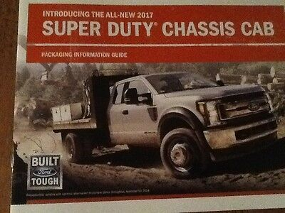 2017 Ford SD F350 450 550 chassis cab packaging guide new