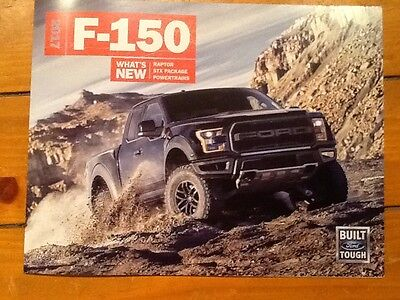 2017 Ford F-150 what's new brochure including Raptor new