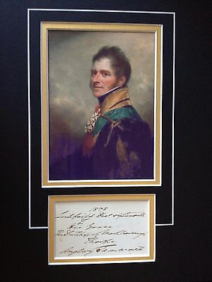 1st MARQUESS of ANGLESEY - BATTLE OF WATERLOO HERO - SIGNED COLOUR PHOTO DISPLAY