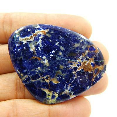74.5 Cts 100% Natural Beautiful Sodalite Nice Blue Colour Cabochon T#1986