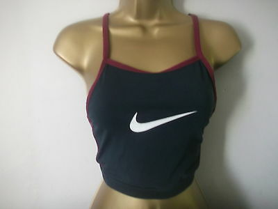 Sexy Ladies Nike Navy Racer Back Sports Top Size 10-12