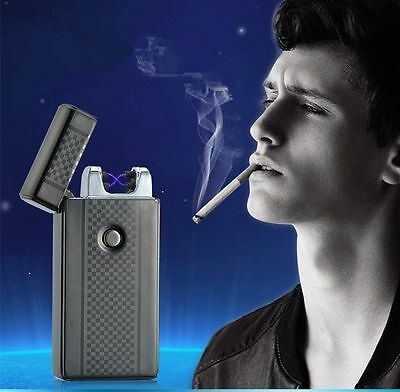 XMAS Gifts USB Rechargeable Lighters Electronic Windproof Arc Cigarette Lighter