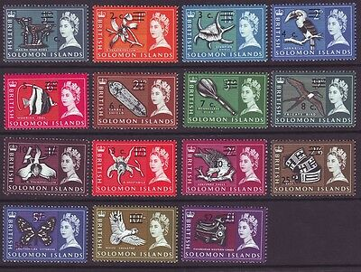 Solomon Islands 1966 SC 149a-166a MH Set