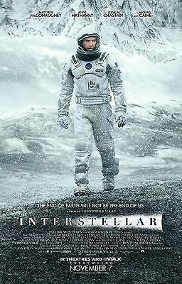 Interstellar Laminated Mini A4 Movie Poster Christopher Nolan