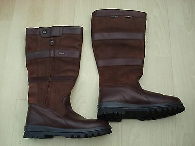 Dubarry 'wexford' Brown Leather Goretex Waterproof Country Boots Size 9 Uk