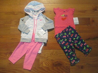 5 piece LOT of baby girl fall clothes size 6 months NWT