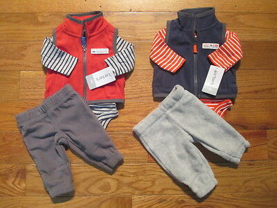 6 piece LOT of baby boy fall/winter clothes size Newborn NWT