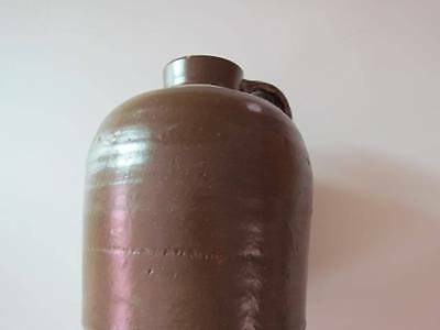 Vintage Ale Whiskey Stoneware Crock Brown Glazed Jug Pitcher