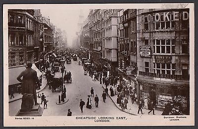 Cheapside looking East,  London  -  Posted 1908  (RP)  (1715)