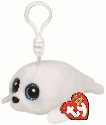 Ty Beanie Boo Key Clip Icy the Seal Keyring Soft Plush Toy BNWT NEW Collectable