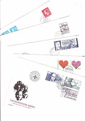 Sweden   Five Nice Fdc Vf ,