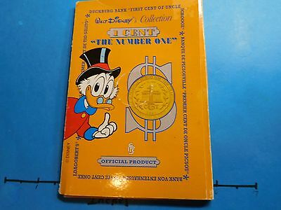 Uncle Scrooge Mcduck 1St Cent Disney Italian Mint Rare .986 Silver Coin Case