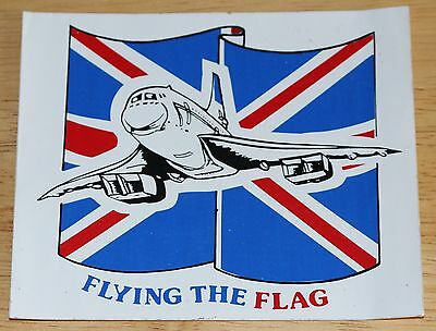 "Old British Airways Concorde ""Flying The Flag"" Sticker"
