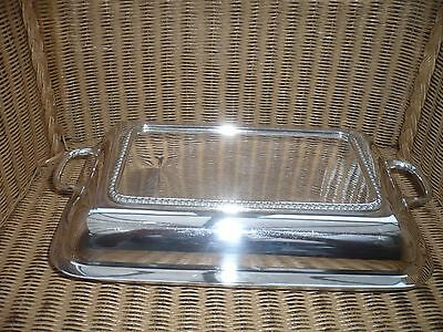Quality Art Deco serving dish silver plate splits into 2/classic Ideal Christmas