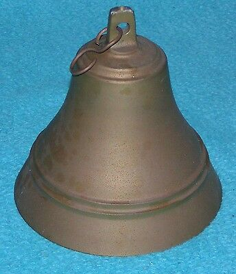 Antique Bronze Brass SHIP BELL Nautical Boat * WITH AN INSANELY PLEASING RING!!