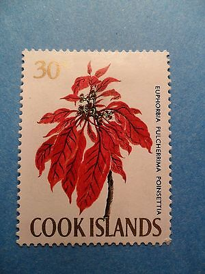 Cook Islands: 1970 QE2 30c Flowers with Security Markings. SG242B. MH.