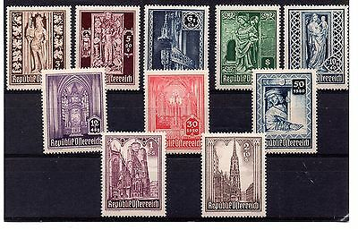 Austria (475) 1946 St. Stephen's Cathedral Reconstruction Fund set Unmounted