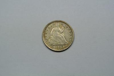 1853 Seated Liberty 5 Cent, Half 1/2 Dime, With Arrows, AU Condition - C2104
