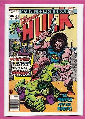 """Incredible Hulk #211_May 1977_Very Fine_Doctor Druid_""""monster And The Mystic""""!"""