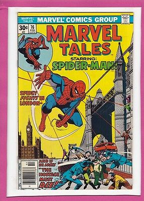 Marvel Tales #76_Feb 1977_Vf_Reprints Amazing Spider-Man #95_Spidey In London!