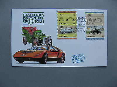 ST LUCIA, cover FDC 1984, pairs car Abarth Bialbero Ford model T