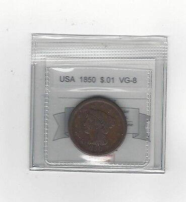 **1850** USA, Large One Cent