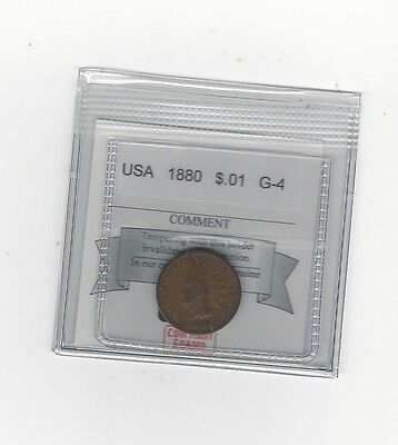 **1880** USA, Indian Head Small One Cent