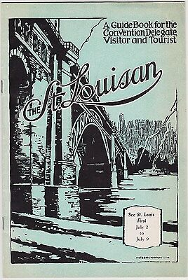 1932 The St. Louisan Visitors Guide Booklet